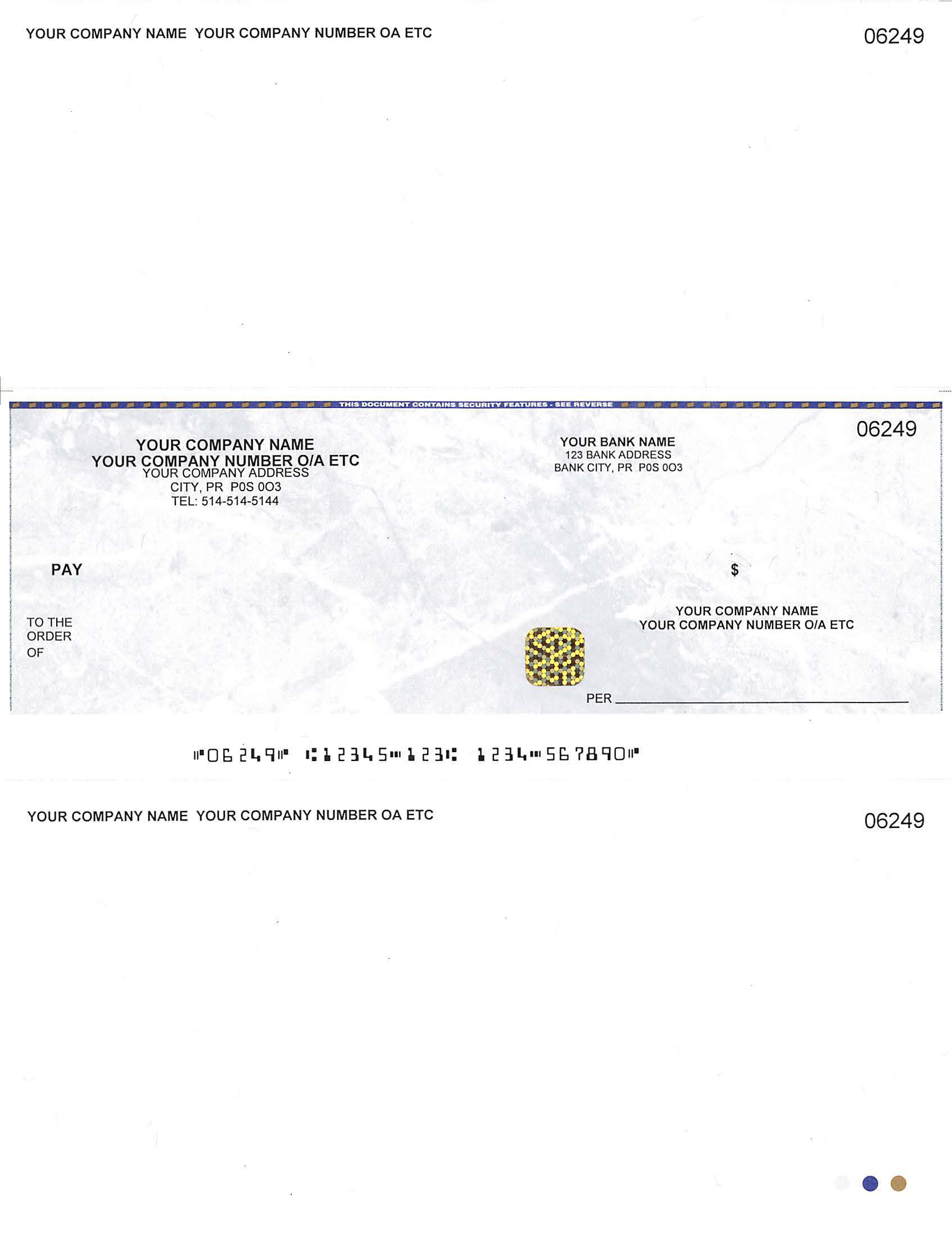 Computer Cheque In Middle