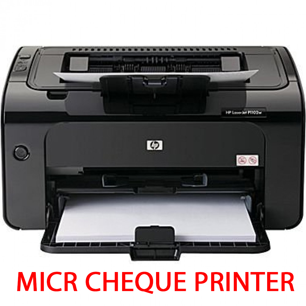 HP Laserjet Pro (P1109W) Wireless MICR Cheque Printer - Full MICR Cartridge Included