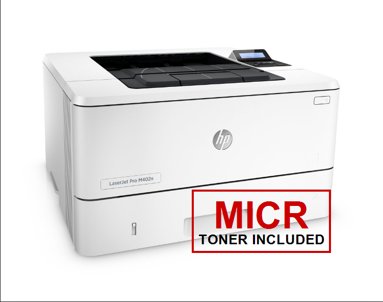 HP LaserJet Pro M402n Enterprise MICR Cheque Printer - With Full MICR Cartridge Included