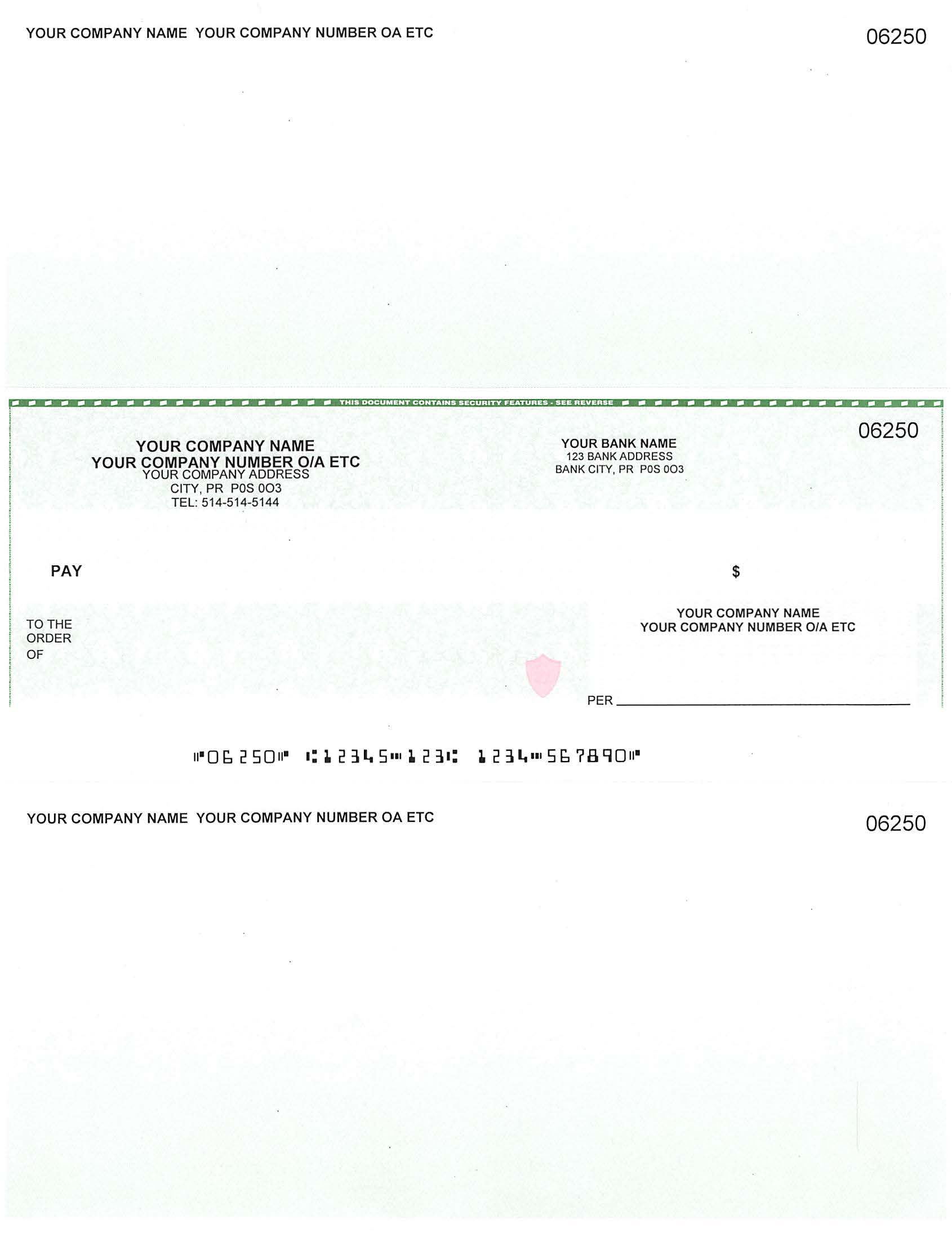 Cheque In Middle