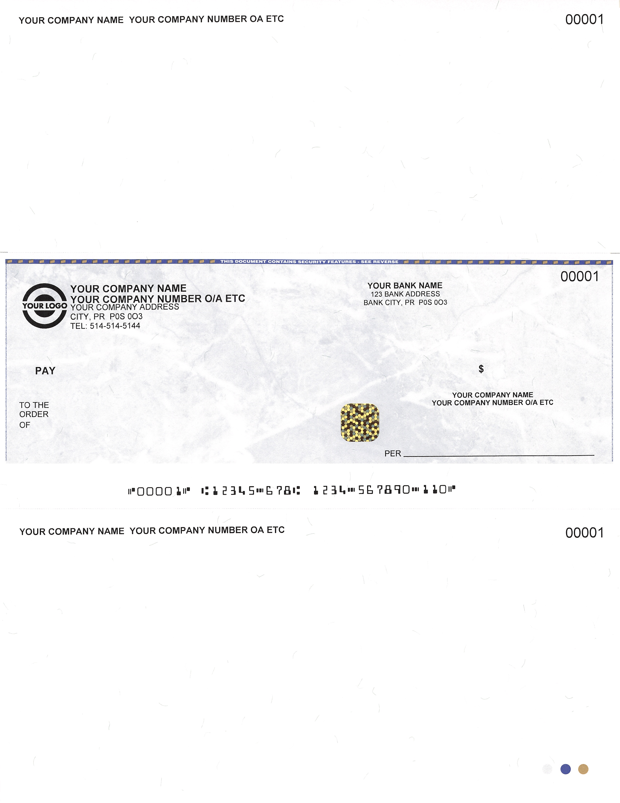 Premium Laser Cheques / In Middle