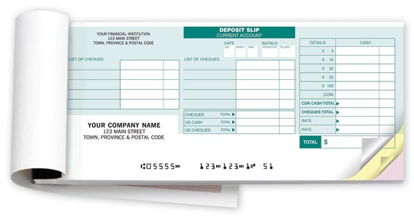 Personalized Deposit Books For RBC - Manual/Handwritten